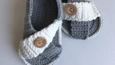 Çapraz bebek sandalet yapımı