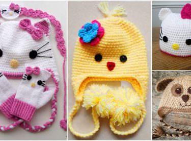 Örgü Hayvan Figürlü Bebek Şapkası Örnekleri