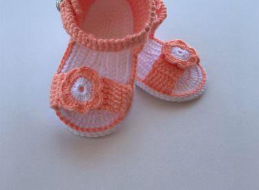 Örgü bebek sandalet yapımı