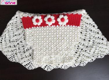 Tığ işi bebek elbise yapımı