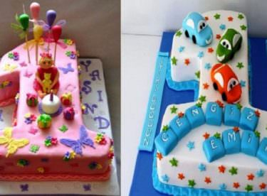 1 Yaş Doğum Günü Pasta Modelleri