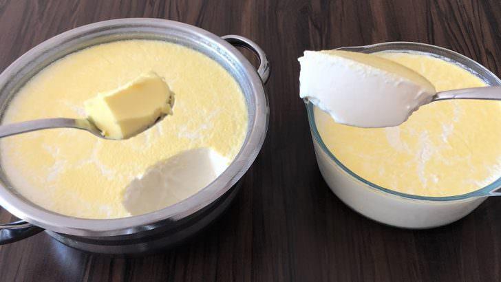 Tereyağı ile yoğurt mayalama