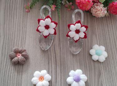 3 Farklı puf çiçek yapılışı