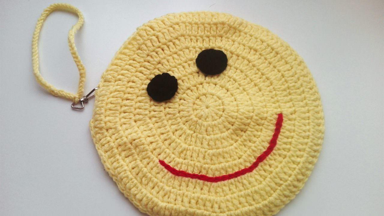 Örgü Emoji Çocuk Çantası Yapılışı