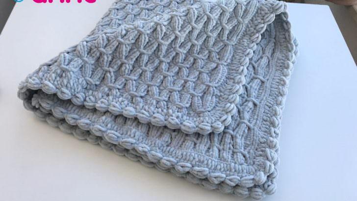 Kadife ipten bebek battaniyesi yapımı