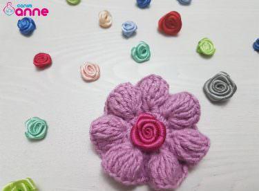 Kolay tığ işi çiçek motifi yapılışı