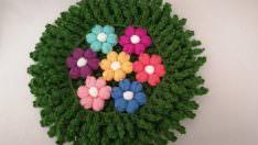 Puf çiçekli lif modeli yapımı