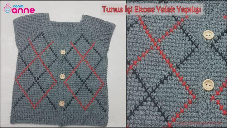 Tunus İşi Ekose Yelek Modeli Yapılışı