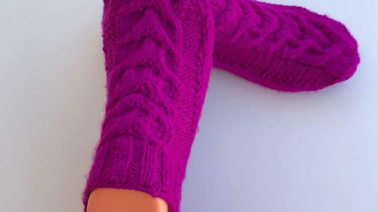 İki şiş patik çorap yapımı