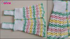 Elbise Görünümlü Kolay Bebek Yeleği Yapımı