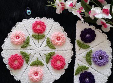 Güllerin yıldızı yuvarlak lif yapımı