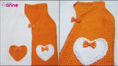 Kalp Cepli Bebek Yelek Modeli Yapılışı