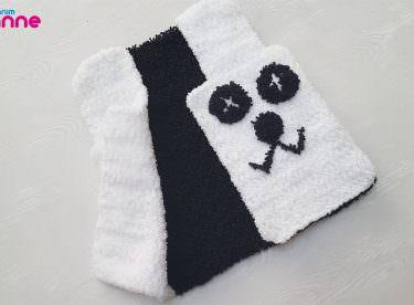 Pandalı Peluş Kolay Bebek Yeleği Yapımı