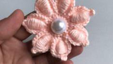 Patik süslemeleri tığ işi çiçek yapımı