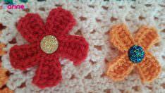 Tığ İşi Süsleme Aksesuar Çiçek Yapılışı