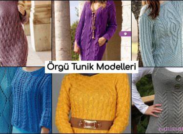Triko Tunik Örgü Elbise Modelleri