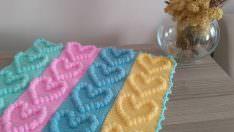 Örgü Bebek Battaniye Örnekleri