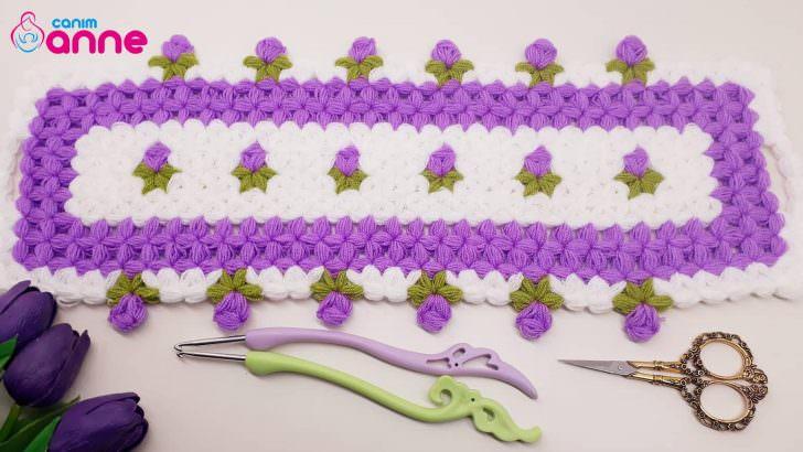Kır çiçekleri uzun lif modeli yapımı