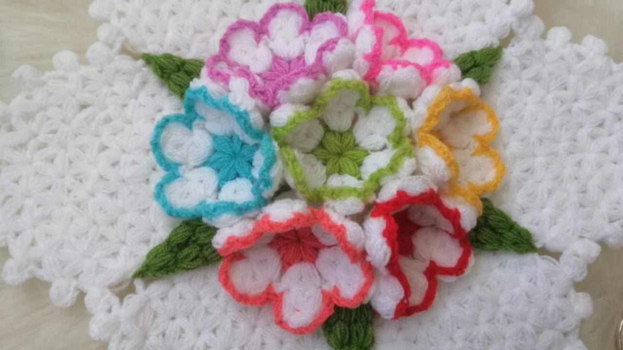 Farklı çiçek bahçesi lif yapımı
