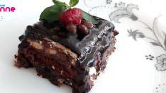 Yaş pasta tadında bisküvili pasta tarifi