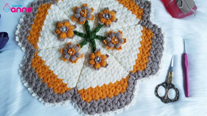Çiçek çemberi lif modeli yapımı