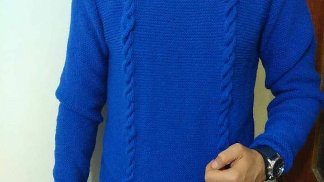 Saç örgü erkek kazak modeli yapımı