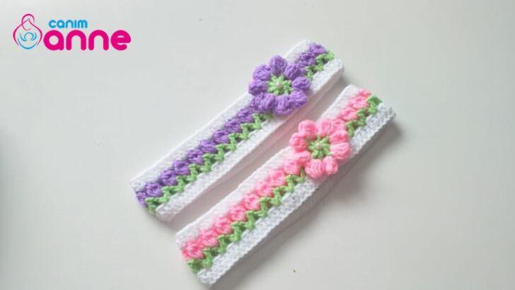 Çiçekli saç bandı yapımı