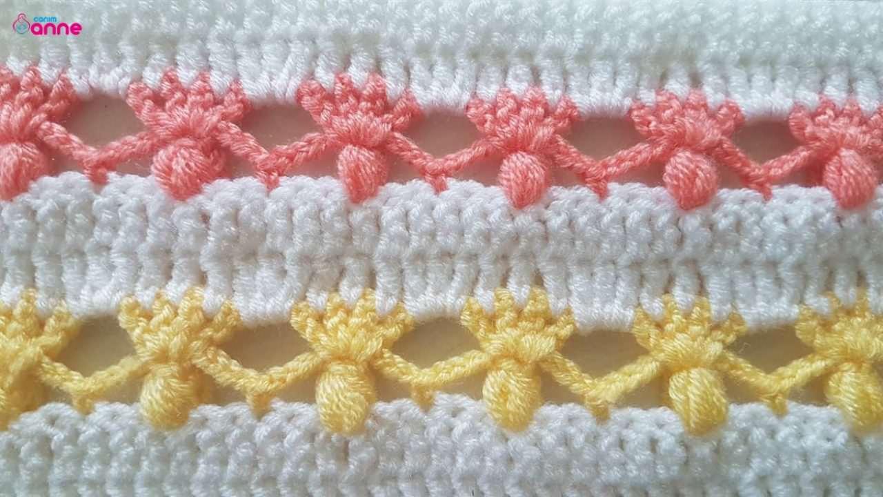 Farklı tığ işi battaniye modeli yapımı
