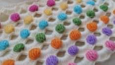 Renkli bebek battaniye modeli yapılışı