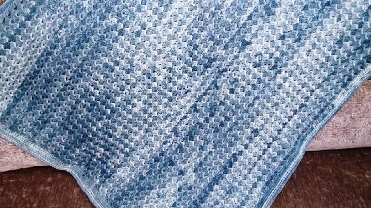 Kolay Tığ İşi Bebek Battaniyesi Modeli Yapılışı