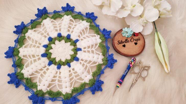 En kolay çiçekli tasarım lif yapımı