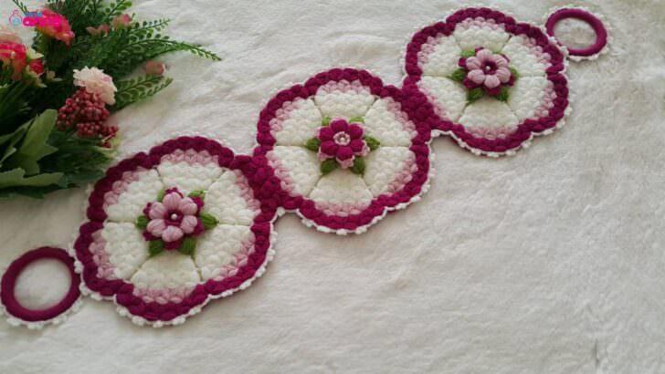 Çiçek çemberi uzun lif modeli yapımı
