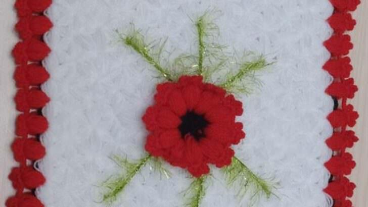 Gelincik çiçekli lif modeli yapımı
