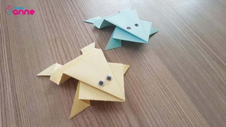 Kağıttan zıplayan kurbağa yapımı