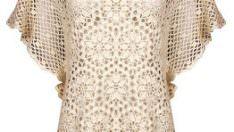 Dantel motifli bluz ve şeması