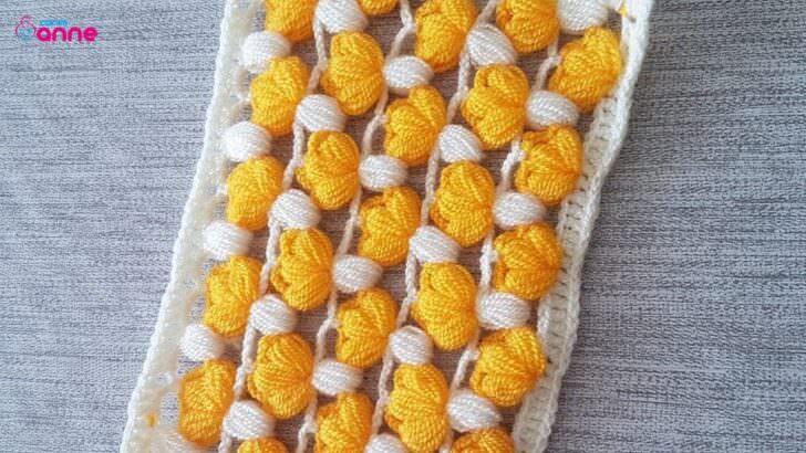 Çok güzel örgü battaniye modeli yapımı