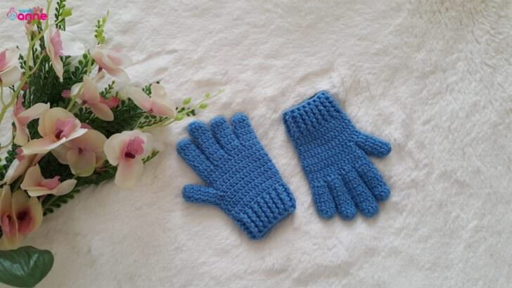 Tığ işi parmaklı eldiven yapılışı