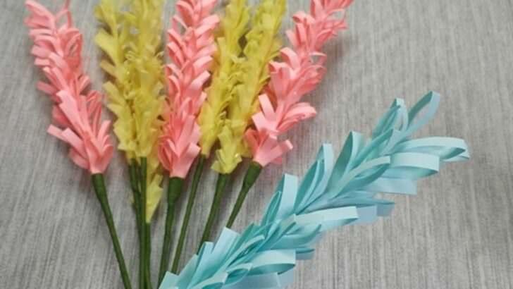 Renkli kağıttan çiçek yapılışı okul öncesi etkinlik fikirleri