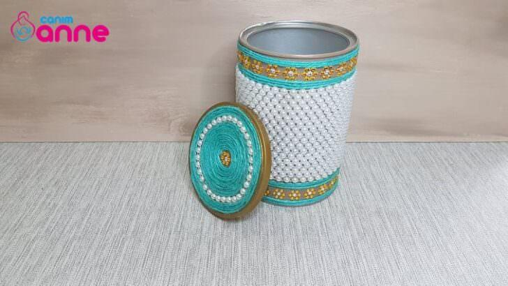 Dekoratif kutu vazo yapılışı