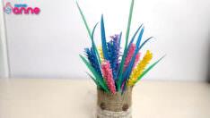 Pipet ile lavanta çiçeği yapımı