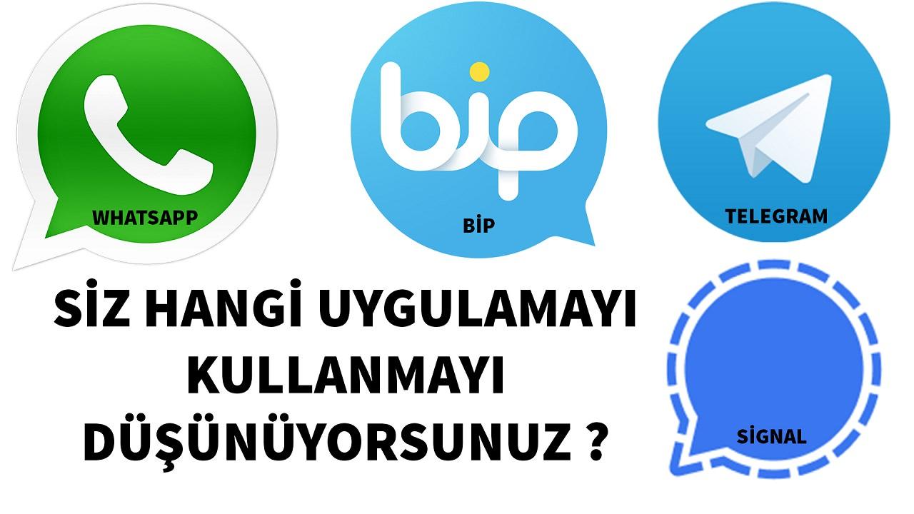 Siz hangi mesajlaşma uygulamasını kullanmak istersiniz ?