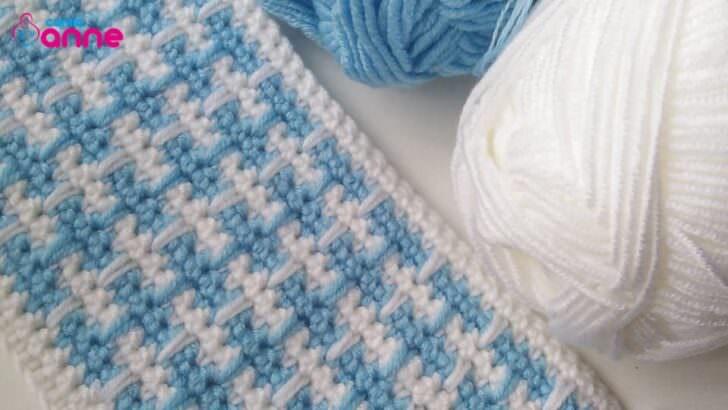 Bebe yünü ile battaniye modeli yapılışı
