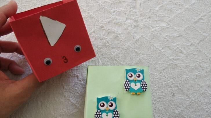 Çocuklar için origami kutu yapılışı