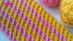 İki renkli battaniye modeli yapımı