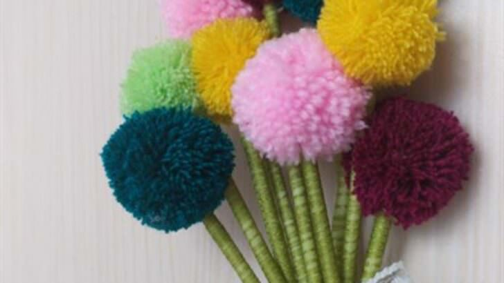 Ponpon çiçek nasıl yapılır